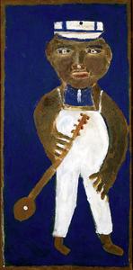 Self-Portrait with Banjo