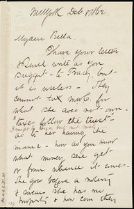Letter from Henry Grafton Chapman, New York, to Deborah Weston, Dec. 8, 1862