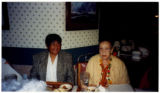 Two women at a restaurant