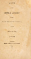 Acts passed by the General Assembly of the State of North Carolina [1832-1833] Laws of the State of North-Carolina.