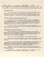 Information Letter No. 5