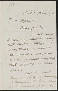 James Miller M'Kim autograph letter signed to Thomas Wentworth Higginson, Phila[delphia], 27 December [1859]