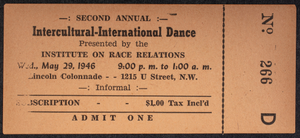 Second Annual Intercultural-International Dance presented by the Institute on Race Relations