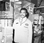 Better Food Market Manager Joe Pearson posing in his store , Los Angeles