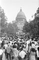 Crowd standing in front of the capitol in Jackson, Mississippi, at the end of the March Against Fear begun by James Meredith.