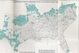 Map of Southern Desegregation by County