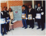 Frances and the Masons by dedication plaque