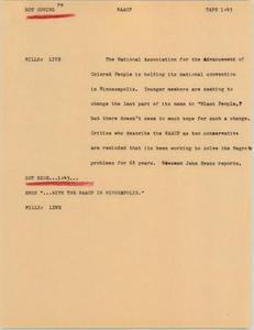 News Script: NAACP