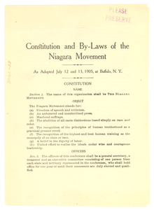 Thumbnail for Constitution and by-laws of the Niagara Movement