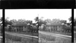 Old Ory Plantation 50 miles west of New Orleans. Negro cabin in rear, cornfield in background. House is over 100 years old, Ory descendants still living in it