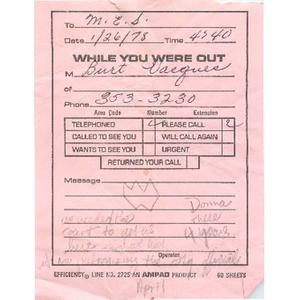 Letter, Mary Ellen Smith, October 28, 1977.