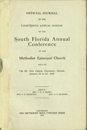 Official Journal of the South Florida Annual Conference, Methodist Episcopal Church, Fourteenth Annual Session