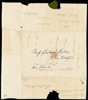 Fragment of letter to] Miss Deborah Weston [manuscript