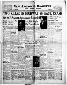 San Antonio Register (San Antonio, Tex.), Vol. 26, No. 34, Ed. 1 Friday, October 5, 1956 San Antonio Register