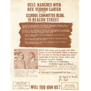 SCLC Marches with Rev. Vernon Carter