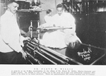 Dr. Floyd W. Willis; A peep-in at an X-ray examination in the offices of Dr. Floyd W. Willis, electro-therapist and X-ray expert