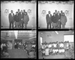 Set of negatives by Clinton Wright including treelighters, Kit Carson's Christmas Program, Reverend Donald Clark, and events at Matt Kelly and Madison, 1966