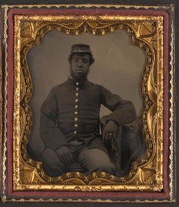 [Unidentified African American soldier in Union uniform]