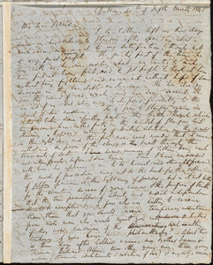 Letter from Richard Davis Webb, Dublin, [Ireland], to William Lloyd Garrison and Oliver Johnson, 1841 [May] 30th