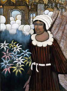 Girl Standing in Mist of Heaven