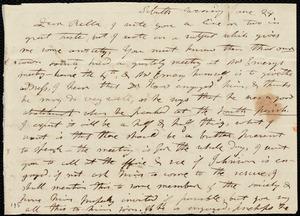 Letter from Mary Weston to Deborah Weston, Sabath evening, June 24, [1838?]