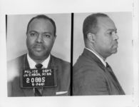 Mississippi State Sovereignty Commission photograph of James L. Farmer following his arrest for his participation in the Freedom Rides, Jackson, Mississippi, 1961 May 25
