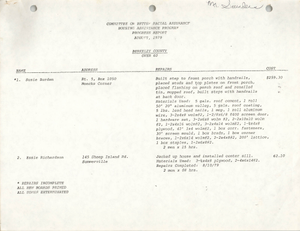 COBRA Housing Assistance Program Progress Report, August 1979