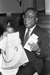 Alex Haley visits school, Los Angeles, 1981
