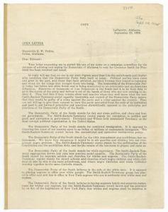 Circular letter on Al Smith's candidacy for President