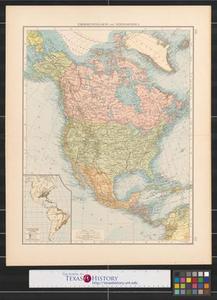 Übersichtskarte von Nordamerika. Survey map of North America.