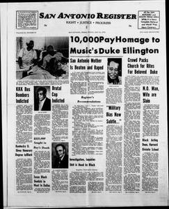 San Antonio Register (San Antonio, Tex.), Vol. 43, No. 50, Ed. 1 Friday, May 31, 1974