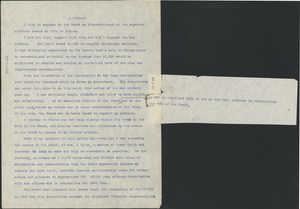 Letter from W. E. B. Du Bois to National Association for the Advancement of Colored People