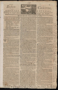 The Boston-Gazette, and Country Journal, 4 September 1769