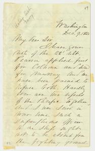 Letter from Assistant Secretary of the Navy Gustavus Vasa Fox to Lieutenant Commander George Upman Morris, 1864 December 9