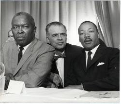Horace Sheffield, G. Mennen Williams, and Martin Luther King