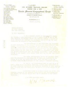 Letter from Robert W. Brooks to W. E. B. Du Bois