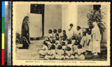 Girls at the mission school, Madūra, India, ca.1920-1940
