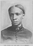 The wife of the Rev. N. G. Merry; The first colored preacher in the State of Tennessee