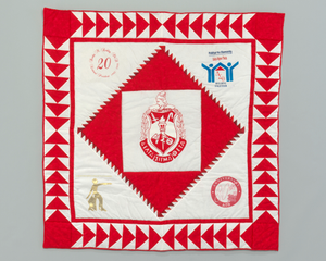 Quilt with the Delta Sigma Theta logo