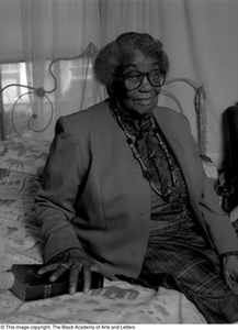 Photograph of Osceola Mays and her bible Dallas/Fort Worth Black Living Legends Dallas/Fort Worth Black Living Legends, 1991