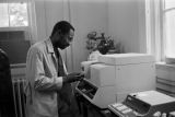 Agricultural scientists in a laboratory at Tuskegee Institute in Tuskegee, Alabama.