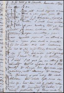 Letter from Harriet Martineau, to William Lloyd Garrison, November 1st / [18]53
