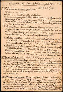 Various notes on slavery, emancipation, immediate abolition of slavery, etc. by Amos Augustus Phelps, [ca. 1834-1842]
