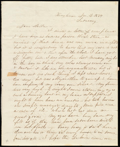 Letter from Caroline Weston, Hingham, [Mass.], to Deborah Weston, Dec. 13, 1834, Saturday