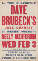 Dave Brubecks Jazz Quartet at the Neely Auditorium (Feb 3)