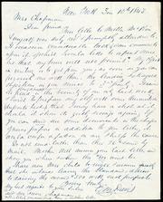 Letter to] Mrs. Chapman, Dear friend [manuscript