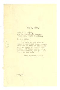 Letter from W. E. B. Du Bois to S. E. Payne