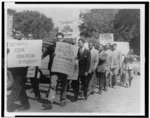 Negro and white students from six Texas institutions as they marched on April 27 toward the steps of the state capitol in Austin, 1949