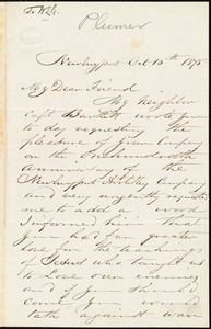 Letter from Richard Plumer, Newburyport, [Mass.], to William Lloyd Garrison, Oct[ober] 15th 1875