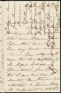 Letter from H. Hincks, Belfast, [Northern Ireland], to Miss Weston, July 13th / [18]55